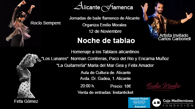 Flamenco en tabla